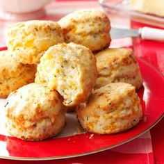 Flaky Cheddar-Chive Biscuits Recipe from Taste of Home -- shared by Betsy King of Duluth, Minnesota