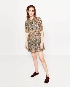 ZARA - COLLECTION AW16 - PRINTED LACE DRESS
