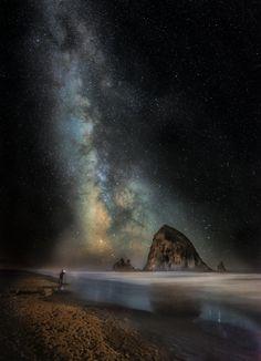 1X - Milky Way on Cannon Beach by Steve Hallmark