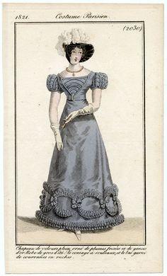 Journal des Dames et des Modes, 1821. GORGEOUS!