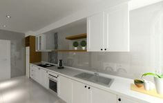 Kitchen with built-in oven