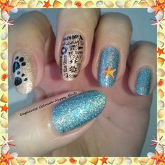 Unghiutze colorate-Happy nails: Nail Art Marathon-13.Beach Scene