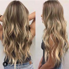 hair beauty - Ideas Hair Goals Ombre Highlights For 2019 Cabelo Ombre Hair, Balayage Hair, Honey Balayage, Brown Balayage, Ombre Highlights, Partial Highlights, Brown Blonde Hair, Fall Blonde, Blonde Curls