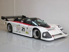 "1985 March 85G Porsche ""Lobster Claw"" (IMSA GTP). An early design by Adrian Newey (who would later become a (the) dominant aerodynamicist for Formula 1). Body designed by Max Sardou."