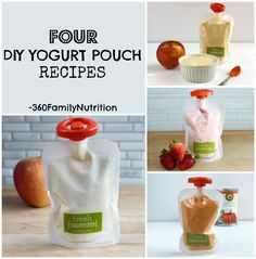 Make your own DIY baby food yogurt pouches with these simple recipes.