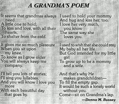 Grandma's Poem