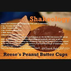 Chocolate Shakeology: Reese's Peanut Butter Cups