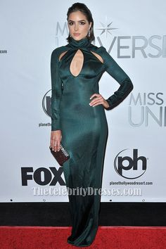 #OliviaCulpo Long Sleeve #EveningDress #2015Miss Universe #PageantGown - #CelebrityDresses