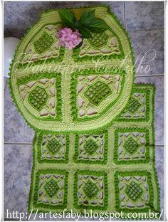 Jogo de banheiro em croch�