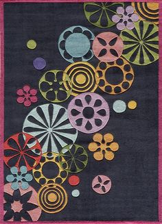 Momeni Rugs Area Rug Lil Mo Collection LMT-8 Black