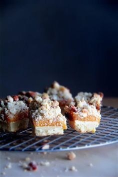 Crumbs and Cookies: rosemary apricot squares.