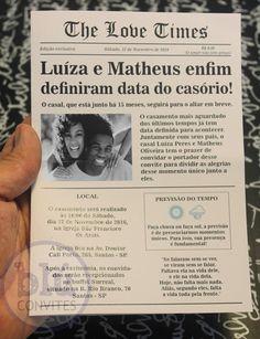 Convite De Casamento Jornal