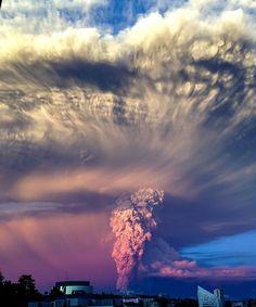 Erupção (Foto: Max Perez / reprodução)
