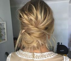 Gorgeous Messy Chignon by Emma Chen Artistry ~ Back view