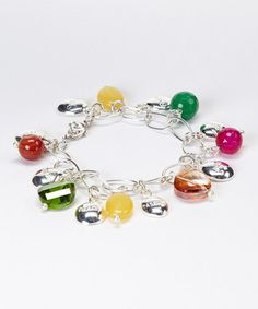 Take a look at this Yellow & Silver 'Peace Love Passion' Charm Bracelet by Moda Designs on #zulily today! $18 !!