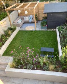 Patio Garden Ideas On A Budget, Back Garden Landscaping, Outdoor Garden Rooms, Pergola Garden, Outdoor Landscaping, Back Garden Design, Backyard Garden Design, Garden Landscape Design, Backyard Seating