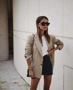 Work Office Style Inspo Outfits Corporate Casual Look Easy Work Outfits Blazer A. Work Office Style Inspo Outfits Corporate Casual Look Easy Work Outfits Blazer And A Skirt Simple Work Outfits, Summer Work Outfits, Casual Outfits, Fashion Outfits, Simple Dresses, Style Fashion, Classic Dresses, Outfit Work, Party Outfits