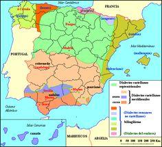Eso este mapa podéis observar las distintas variedades de nuestro hermoso idioma. Fuente