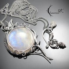 XETHERNIS - silver and moonstone by LUNARIEEN.deviantart.com on @DeviantArt