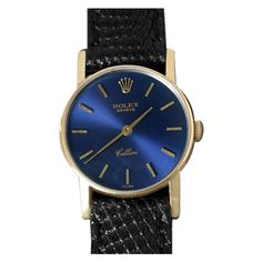 Pre-Owned Rolex Cellini Ladies Watch, Ref. 3810 - 18K Gold (30.940.015 IDR) ❤ liked on Polyvore featuring jewelry, watches, royal blue, rolex wrist watch, dial watches, gold wrist watch, preowned watches and gold jewellery