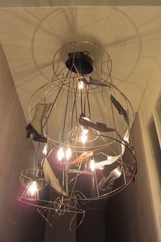different old lampshade skeletons