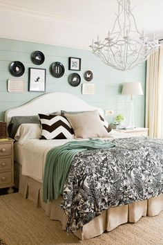 Beautiful Blue Bedrooms: Blue and Black Master Bedroom