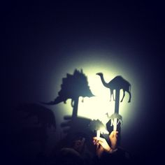 Animal silhouettes, craft sticks and a flashlight. @jaclynkaiser   Webstagram