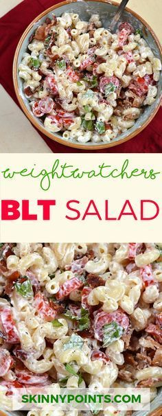 Watchers Blt Salad The best BLT Salad, come with only 5 weight watchers SmartPoints.The best BLT Salad, come with only 5 weight watchers SmartPoints. Weight Loss Meals, Weight Watcher Dinners, Quick Weight Loss Diet, Lose Weight, Weight Watchers Lunches, Water Weight, Ww Recipes, Pasta Recipes, Salad Recipes