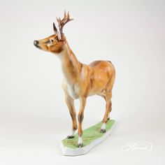 Roe Buck is painted in Naturalistic (MCD) Brown Matte surface decor. Giraffe, Porcelain Doll, China, Dolls, Brown, Animals, Baby Dolls, Felt Giraffe, Animales