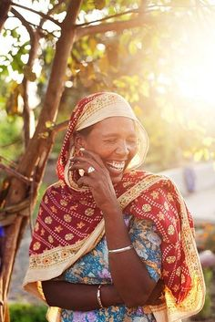 Indian Woman Laughing by jasonwallisphotography, via Flickr