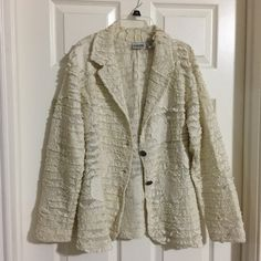 My XLarge Chicos 3 Cream Embroidered Jacket by Chicos! Size 16 / XL for $$35.00. Check it out: http://www.vinted.com/womens-clothing/other-coats-and-jackets/21374089-xlarge-chicos-3-cream-embroidered-jacket.