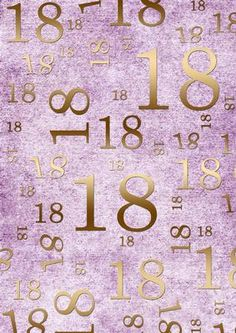 Lilac and Gold 18th Birthday A4 Backing Paper on Craftsuprint designed by Ann-marie Vaux - I have designed this backing paper to mix and match with other items that I have available. It will co-ordinate with items you may already own and will look great for any paper project you might do, ideal for cards and using to matt and layer. Check the multi-link for other age options, plus other colourways available. - Now available for download!