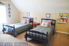 This is my currentLittle boy's airplane roomand they are itching for a change. They're requesting a superhero room but we are exploring some options. Superheroes are pretty cool! Here are some awesome boy's rooms to get our creative juices flowing! These are all so darling! Red and Grey Boy's Room Vintage Airplane Boy's Room Industrial …