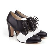 Beyond Skin Alexa vegan high heel lace up round toe in black and faux leather with non leather synthetic pleather lining 100% Vegan, vegetarian and cruelty-free.