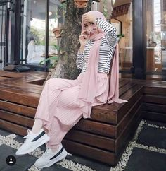 How to have a casual maxi look with hijab – Just Trendy Girls