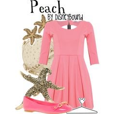 Peach, created by lalakay on Polyvore