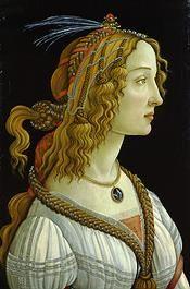 Sandro Botticelli, Young Woman (Simonetta Vespucci?) in Mythological Guise, c. 1480/ 1485