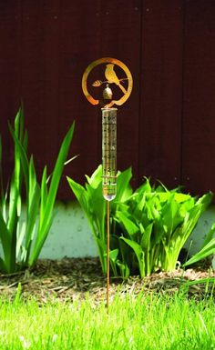 If you're a serious gardener, then you're going to measure rainfall. Why not do it in style with our Bird Rain Gauge Stake? This rustic piece includes a fully functional rain gauge plus a lovely,   #gardening #gardenart #gardendecor #GardenStakes #Gardenstake #raingauges #gardening #gardenlover #gardenart Garden | Gardening | Garden Art | Garden Decor | Garden Stake Vegetable Garden Planner, Rain Gauge, Metal Garden Art, Diy Garden Projects, Garden Ideas, Different Vegetables, Garden Stakes, Garden Ornaments, Landscaping Tips