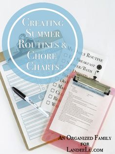 Summer routine and chore chart printable. Keep kids on task with these free printable chore charts.