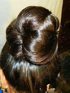 Beautiful Buns, Beautiful Long Hair, Amazing Hair, Bun Hairstyles For Long Hair, Indian Hairstyles, Long Indian Hair, Arabian Makeup, Beehive Hair, Big Bun