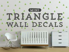 Mini+Triangle+Wall+Decals+Geometric+Wall+Design+by+DecalLab,+$18.00