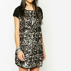 ASOS Animal print sequin dress Animal print sequin dress from ASOS. Never worn! UK size 8, US size 4. Dresses Mini