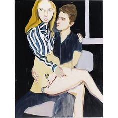 Chantal Joffe's stripes