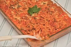 The Laughing Cow Spaghetti Pie recipe using Light French Onion