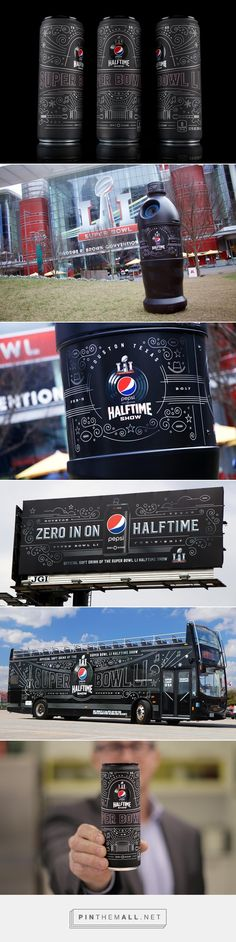 Limited Edition Commemorative Super Bowl Pepsi Can design by Theory House x Matt Stevens (illustrator) - http://www.packagingoftheworld.com/2017/02/limited-edition-commemorative-super.html