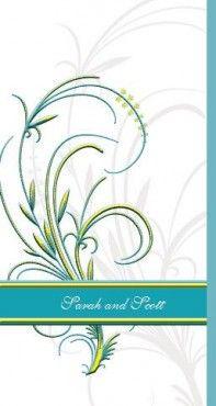 Velvet Plume DL Tri-Fold Invitation in Sunshine -  DreamDay Wedding Invitations