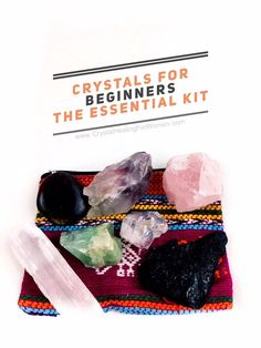 Crystals For Beginners The Essential kit | CrystalHealing4Women Clear Quartz Crystal, Crystal Healing, Higher State Of Consciousness, Medicine Bag, Crystals For Sale, The Essential, How To Increase Energy, Stress And Anxiety, How To Relieve Stress