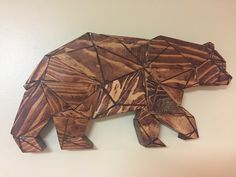 Polygon Bear - Made from spare 2x4's