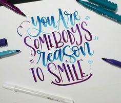 You are somebody's reason to smile. With #tombow.