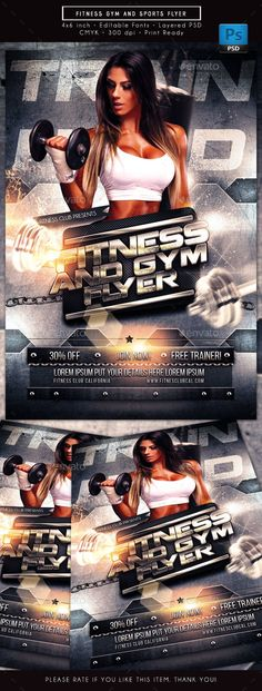 Fitness Flyer - free sports flyer templates